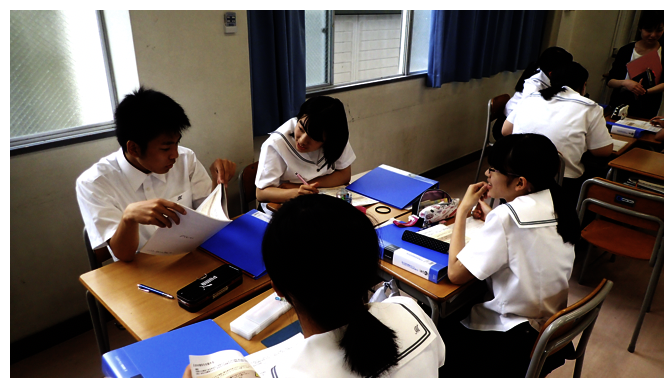 主体的な生徒たち